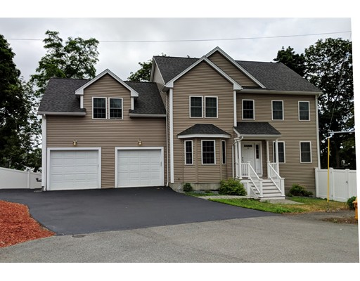 Beautiful 7 yr young Colonial set on a fenced 10,000 sq.ft Cul-de-Sac lot.  Features:11 Rms, 5 Bd.Rms, 3.5 Baths.Kitch. w/granite counters, stainless steel appliances, breakfast bar & Hrd wd floor leading to FamRm or LivRm w/sliders to 11'x'11' sundeck convenient for entertaining.Office.   2nd level: Master BdRm (23x16) w/walk-in custom closet. Master bath w/motion sensor lights, double sink vanity & 6x4' tiled, seated multi-shower.All Rms feature recessed lights, hrdwd floors or wall-to-wall carpet. Laundry rm. NEWLY completed Lower Level (In-Law or Extended Family) features:Granite Counter Kitchen, Din. area w/glass sliders to patio & completely fenced yard. Liv Rm & Tiled Shower Bath. Home has attention to detail, technology, neutral colors & comfortable. City Views. Convenient to Medford Sq.,1/2 +/- mile to Boston & close to Rtes #93,128 & Airport & Encore Casino.
