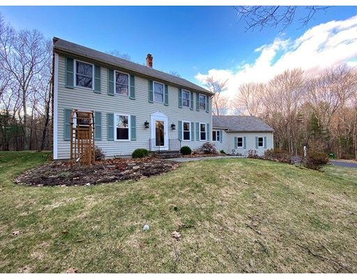 Fabulous 4 Bedroom Colonial on a large, wonderfully wooded, private 4 acre lot in the sought after Granville Lane neighborhood of North Andover. This well maintained  home offers a plethora of updates completed in the last few years including a newly partially finished basement (approximately 400 sf), new kitchen appliances including a Wolf Induction cook top, Bosch 800 series double wall ovens and Bosch Dishwasher not to mention a new roof, new Mendota gas fireplace, new driveway, new septic tank and exterior lighting.  In addition to the great yard, the home also boasts a delightful floor plan including a terrific family room with vaulted ceilings off the updated kitchen with access to the back deck not to mention two fireplaces and hardwood floors throughout the first floor and vast amounts of storage in the walk up attic and expansive work shop and unfinished portion of the basement which has direct access to the garage!  Don't miss this opportunity to own this great home!