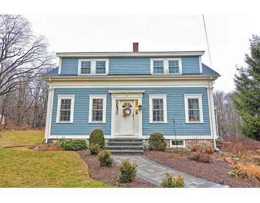 You won't want to miss this 3-bedroom New England Cape Cod home, sitting beautifully amongst 2.31 acres perfect for yard games, gardening, & entertaining. This home has beautiful hardwood floors throughout; a 1st floor half bath & laundry room along with sun-drenched office featuring a built-in desk & bookshelves. The eat-in kitchen comes complete with a beautiful built-in hutch, stainless steel appliances, subway tile backsplash and a blissful view into an inviting, private backyard! Just off the kitchen is formal dining room that leads to one of two living rooms, giving all plenty of room to spread out. Upstairs you'll find 3 generous size bedrooms and a full bath. Other notable mentions: 2017 new roof (&sub roof), central a/c, new gas furnace 2017, new septic 2013, nest thermostat, & new front walkway.