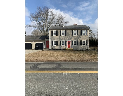 Dartmouth 4 bedroom Colonial with big 2 car garage, nice kitchen, 2 bath, hardwood floors through out most of the house, open floor plan. Nice tiled fire place, pellet stove, big yard. First showing at open house Saturday March 7 11:00-12:30