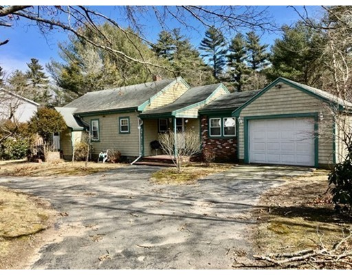 Great location, easy highway access, 2 bedroom ranch with eat-in kitchen, living room and family room, full basement with walk out basement. Huge lot, over one acre of land with attached one car garage. Circular driveway, town water. Seller to connect to town sewer prior to closing.