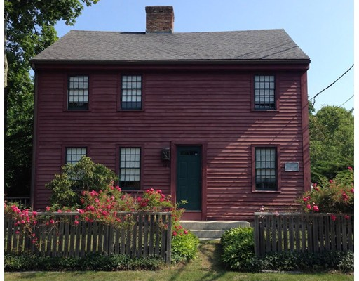 The CAPTAIN JOHN GIFFORD HOUSE, circa 1775, at the Head of Westport; rich in history, a diverse settlement in days gone by! At the headwaters of tidal Westport river amidst like antique houses, this 3/4 rustic Georgian on a quarter acre offers a colorful past. 3 BR's, 2 BA's. The 2466 sf house, gutted in the 1980's when sheet rock replaced lathe & plaster, retains its early charm boasting 6 fireplaces two of which function, 12 over 12 windows grace front facade, wide board floors, front & back staircases. Formal dining w/fireplace, sitting & reading rooms, two offices.  A courtyard beckons w/brick patio, grapevine adorned pergola; prolific apple trees, blackberry bushes, herb garden. Roof approx 9 years young, 200 amps service, security system, natural gas. Huge antique barn & your very own 3-seater outhouse complete the picture. Claim a bench at the Head store renowned for its doughnuts and bemuse happenings at the Head, water views or better yet, drop in your kayak. WOW!