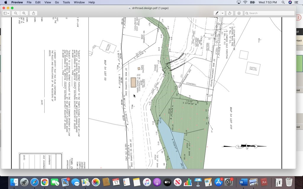 Last lot in small 3 lot sub-division over looking Westport River.