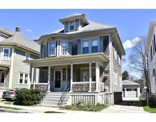 Located just a few blocks from St. Luke's Hospital & a short distance from Buttonwood Park, awaits this pride of ownership 4 Square Colonial home heated by Gas. Your driveway with convenient 2 stall garage welcomes you home, as you enjoy the comfort of a fenced in yard & large trex back deck.Entering the home, you are greeted by an enclosed entry hall, protecting you from the outside elements.The welcoming foyer features a fireplace which leads to the adjoining open concept living room & dining room featuring custom window shutters with linen inserts & tailored grasscloth wallpaper. The kitchen with dining area is fully applianced. The half bath & access to back yard, deck & garage complete this 1st floor level.  As you make your way to the 2nd floor you will find 3 bedrooms with hardwood flooring ,full bath tiled with tub & shower & the 4th bedroom can be used as a Den or Office.