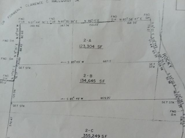 Lot 2-B 42 Rocky Hill Road Rehoboth MA 02769