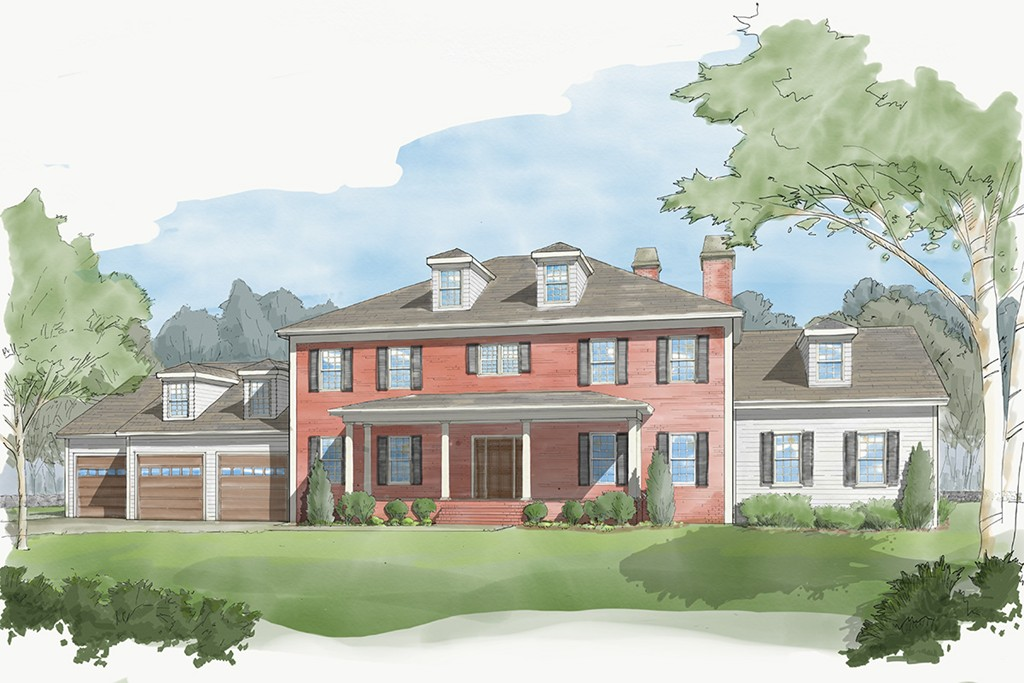 Construction has begun on this grand 7,900 square foot home on Belmont Hill's newest private road. Sited on nearly three-quarters of an acre of land, and designed with both classic lines and a modern lifestyle in mind, this distinctive home will encompass the finest craftsmanship and finishes and a flexible layout, replete with amenities to provide both comfort and sophistication. With three levels of living space, there will be 7 bedrooms, including master suites on both first and second floors, as well as 7 full and 2 half well-appointed bathrooms. A fully-equipped gourmet eat-in-kitchen with state-of-the-art appliances opens to the family room with fireplace and french doors lead to large covered deck overlooking the level wooded yard. Elegant formal dining room with butler's pantry flows to the formal library via front foyer.A  mudroom connects to the heated 3-car garage.The lower level includes a family room, kitchenette, bedroom/study, exercise room with direct access to the yard