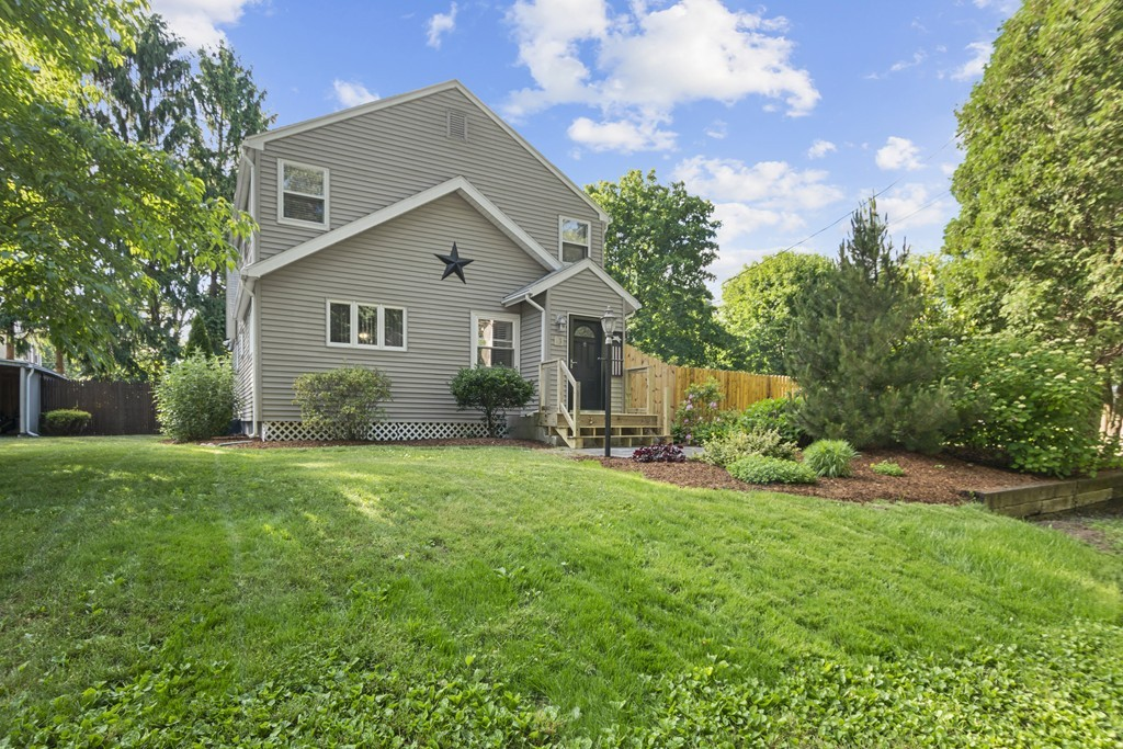 This handsomely updated Dodgeville Pond home sits comfortably on its private oasis featuring an updated pool, covered deck, fire-pit area, and bonus yard space. Located across the street from the Pond - a great place to put in your canoe and catch some fish! Conveniently situated, but tucked in a sweet neighborhood; this home offers two generous bedrooms and two baths with a bonus loft-like office that could be returned to a third bedroom. The interior completes with a finished basement living space. The open dining and kitchen area have been updated over the past few years with new stainless steel appliances, flooring, and counters! The double living room has a modern rustic feel with the reclaimed wood feature and espresso stained stairs. Lovingly cared for and modernized over the last decade - sellers are ready to downsize to one level and move East - making this home ready for you! Highest and Best Offers due by 5:00 PM, Saturday, June 27, 2020.