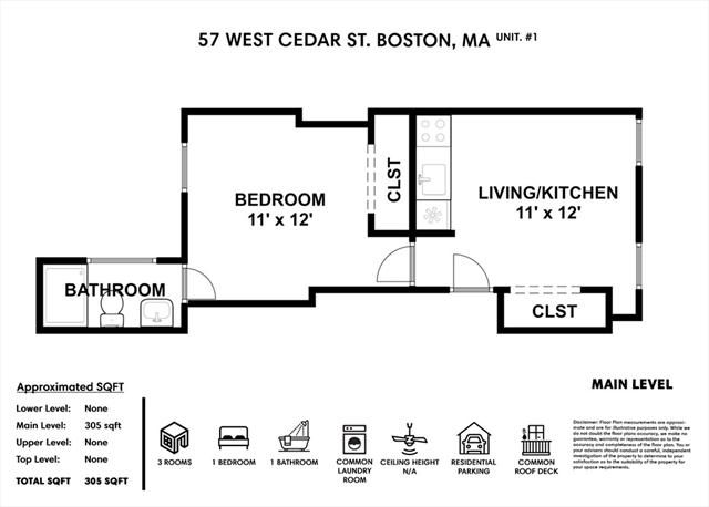 57 W. Cedar Street Boston MA 02114