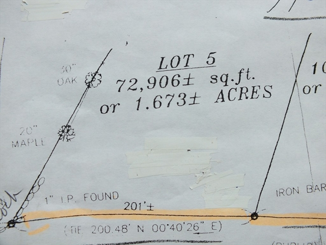 Lot 5 Hovey Road Monson MA 01057