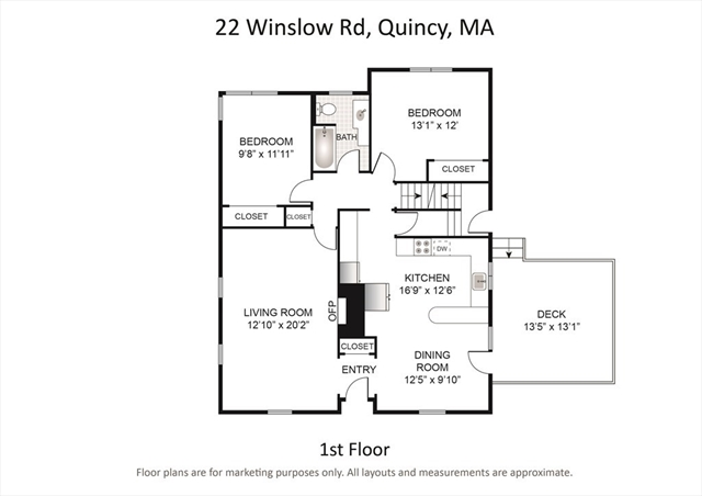 22 Winslow Road Quincy MA 02171