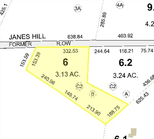 Lot C2-B Janes Hill Cross Road Brimfield MA 01010