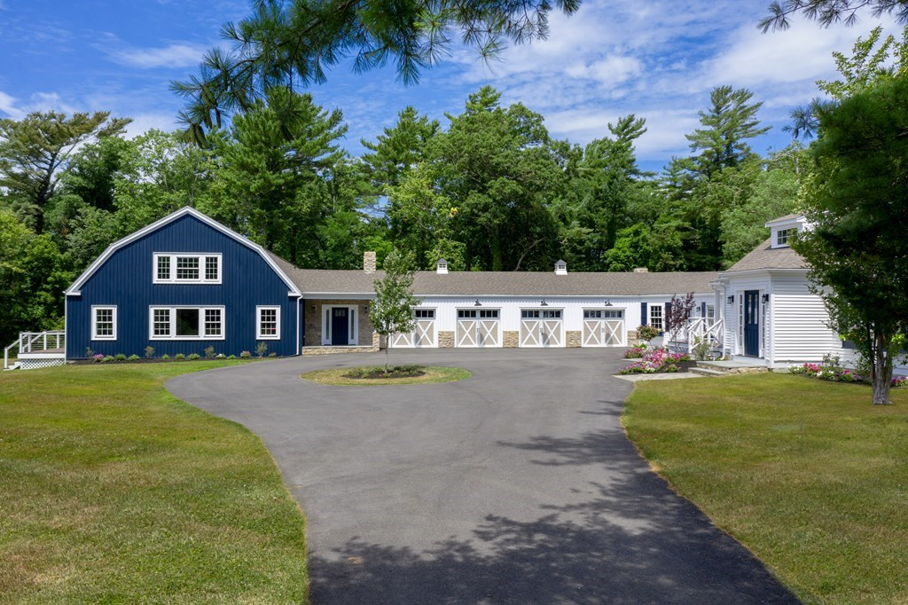 Thoughtfully renovated MODERN FARMHOUSE COMPOUND w/ BEACH RIGHTS, perfect for discerning buyer seeking multigenerational home, or for creative use of socially-distant space to safely host family and friends during Covid-19 pandemic. This early 1700s structure consists of both a MAIN HOUSE and GUEST HOUSE totaling 7,767 sq ft of living space, 8 bedrooms, 8 baths, and a vast connecting 4-bay garage all set on over 3 acres of grounds. This property was painstakingly rebuilt with the utmost attention to detail & craftsmanship. What was once an old farm is now two joined homes: a BARN with an open concept living space consisting of a gorgeous kitchen/great room, 4 to 5 bedrooms (including 1st fl master w/ ensuite) and 3.5 baths; and a second expanded CAPE style home also with a beautiful kitchen/entertaining space, a private media room, 4 bedrooms (including 1st fl master w/ ensuite) and 3.5 baths. Everything in this home is new; all you need to do is move in.