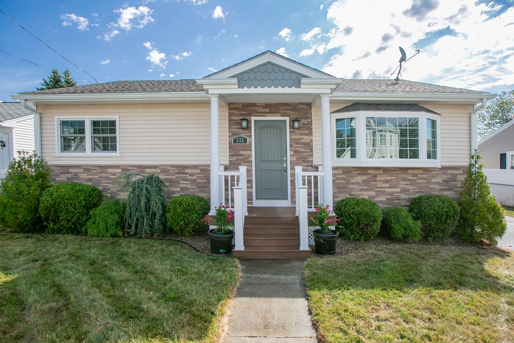"""MULTIPLE OFFER NOTIFICATION: Sellers request highest & best by Monday 8/24 by 3 PM, must validate offers until noon on Tuesday 8/25. This picture perfect 2-bedroom ranch located in a quiet north end neighborhood of NB is in turn-key condition! The home is bursting with curb appeal: tan lap vinyl siding & accents of faux stone & scalloped detail! The tastefully remodeled kitchen is truly """"the heart of the home""""! Ceiling high cognac colored maple cabinets offer an abundance of storage...large island, granite countertop, tiled backsplash & stainless steel appliances! The fenced-in backyard boasts a spacious 26' pvc deck w/pergola...love this outdoor space, so stylish! A 9'x10' mudroom addition, the deck, siding, roof, windows, remodeled kitchen & oversized custom built shed was completed in 2014 (permits provided). Central a/c was installed in 2017. High efficiency gas boiler! Group showings Sunday 8/23 starting 10:30am,"""