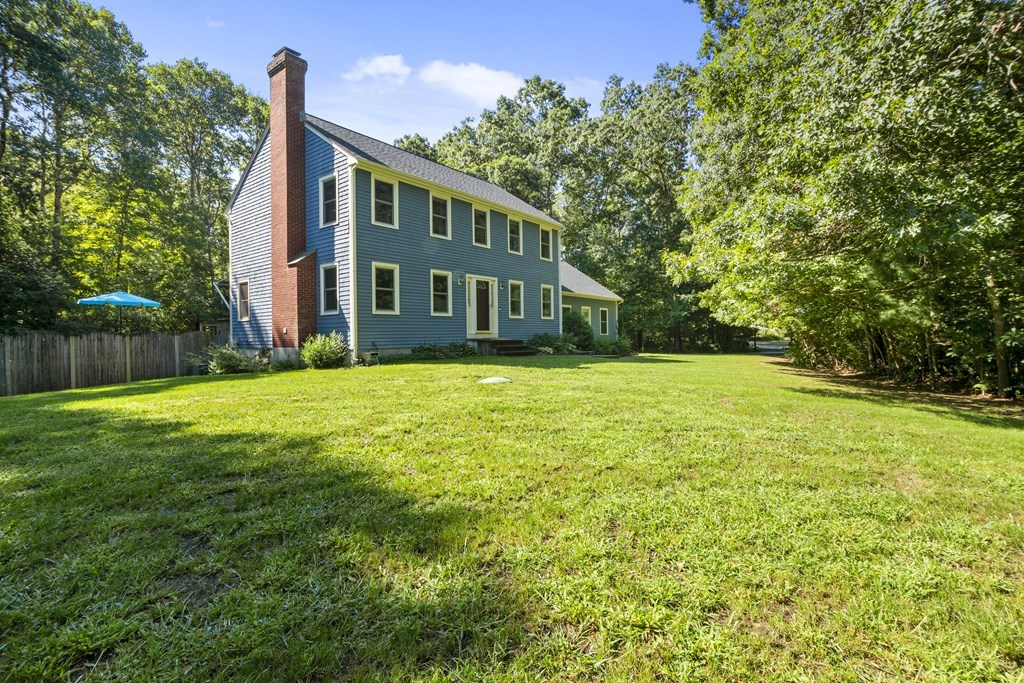 This handsome center hall Colonial is set on the corner of Chestnut and Williamsfield and has many features! The desirable floor plan has a nice open flow between the kitchen, family and dining room. The two story entry is beautiful and bright. There is a first floor office or playroom with new carpeting and wall shelving for books or displaying your favorite decorative items! The updated kitchen offers granite counters and seating at the island. The laundry room is conveniently located on the first floor near the garage entrance. Enjoy the pool and private rear yard from the back deck. All bedrooms are a generous size with hardwood flooring and ceiling fans. The master bedroom is a private suite featuring a walk in closet and renovated full bathroom with granite counters and shower with glass enclosure. New roof and new heating system! New septic system installed 2020! Central air, mature and established landscaping and a two car garage. Highest & Best Due Friday 9/11/20 at 3:00pm