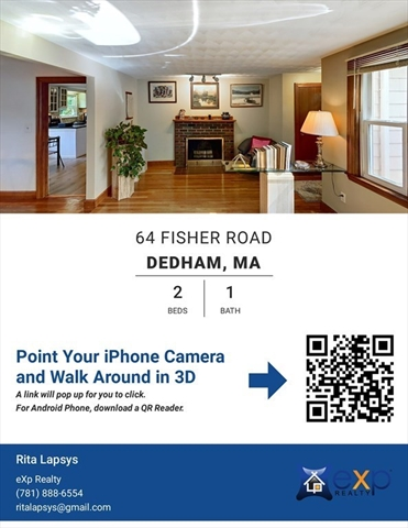 64 Fisher Road Dedham MA 02026