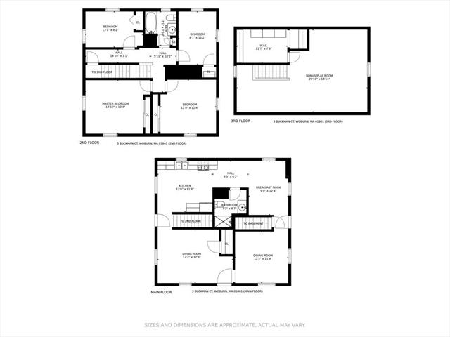 3 Buckman Court Woburn MA 01801