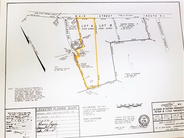 Main St - LOT A Leicester MA 01524