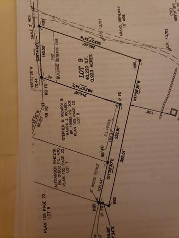 Lot 9 Moore Street Ludlow MA 01056