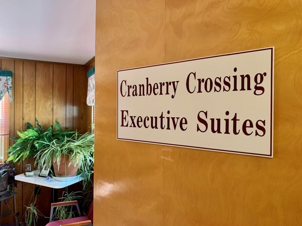 Bright and clean two office suite in well maintained professional building. Window and pass through door separate the two offices, also each has its own entry door. Vacant ready for your business or organization. Cranberry Crossing Executive suites offers an all inclusive rent rate. One monthly fee covers HVAC, electricity, internet, common cleaning, snow removal and maintenance. Super location near West Wareham's professional and shopping highlights; Wareham Crossing, Super Walmart, AD Makepeace Rosebrook Place complex. Close to Routes I-195, I-495, 44, 25. Each floor in this building has two dedicated bathrooms. Each floor in this building has two dedicated bathrooms. Come take a look to see if all inclusive office space a good fit for you.