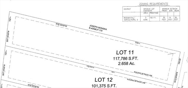 Lot 163.11 Shady Lane Templeton MA 01468