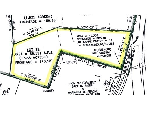 Property for sale at Lot 29 - Newland Street, Norton,  Massachusetts 02766
