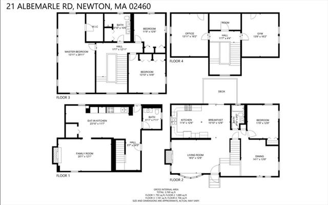 21 Albemarle Road Newton MA 02460