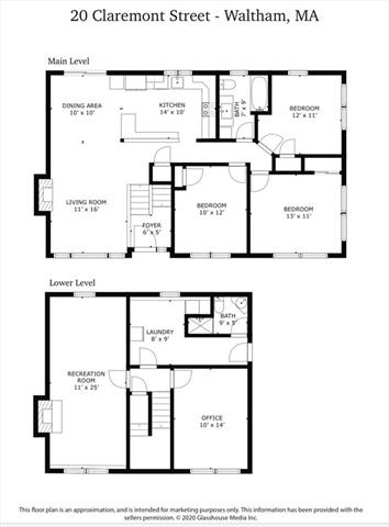 20 Claremont Street Waltham MA 02451