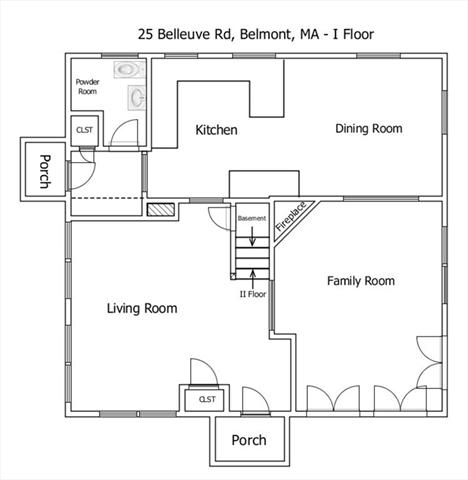 25 Bellevue Road Belmont MA 02478