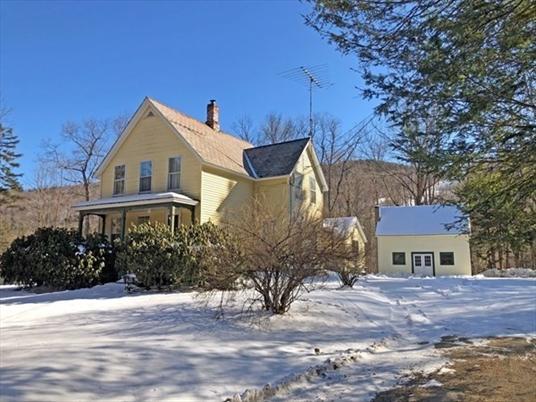 91 East Hawley Road, Charlemont, MA<br>$269,900.00<br>3.33 Acres, 4 Bedrooms
