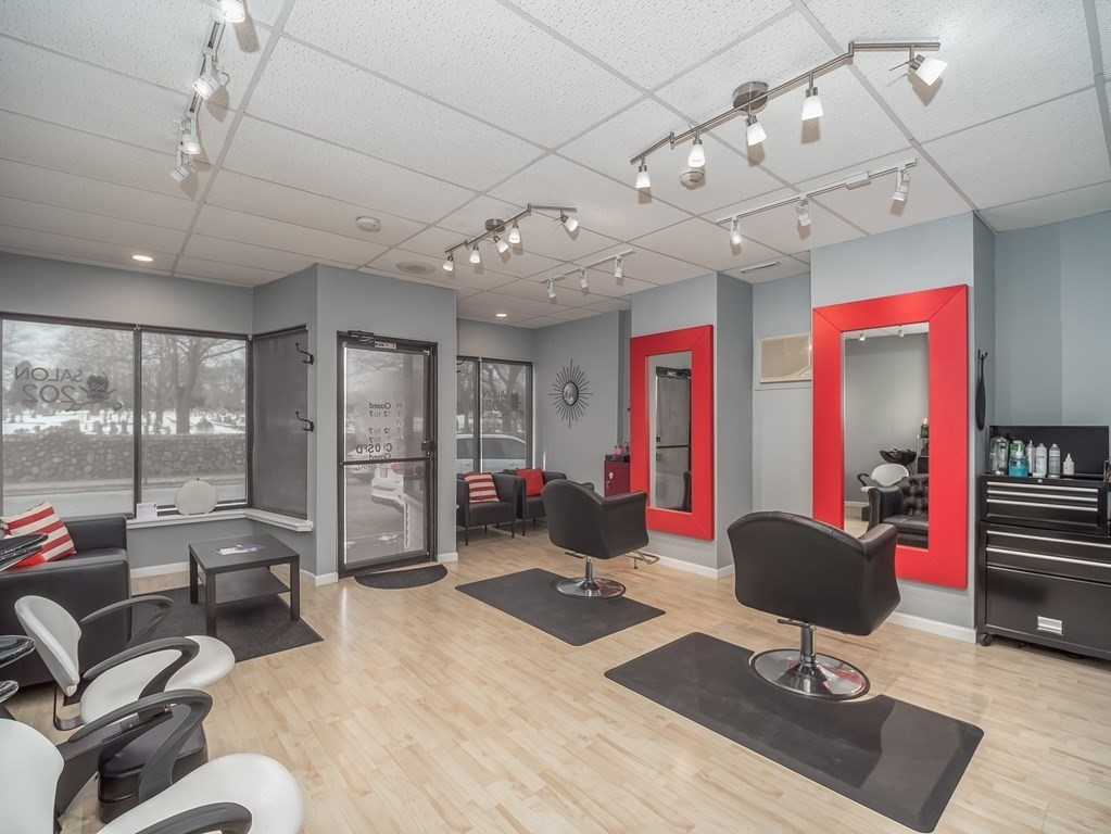 Perfect opportunity to be your own boss in this fully equipped salon located in a high traffic area that is convenient for both you and your clients. Its modern, stylish décor leaves you with nothing to do except welcome your clients to your very own business. Salon includes 2 stylist chairs, 2 wash stations and 1 dryer station as well as a reception area and bathroom. Building has a full basement giving you ample storage space with washer and dryer hookup. Property also has a bonus, enclosed outdoor space behind the building for you to enjoy some fresh air in between clients. Take the first step today to owning your business!