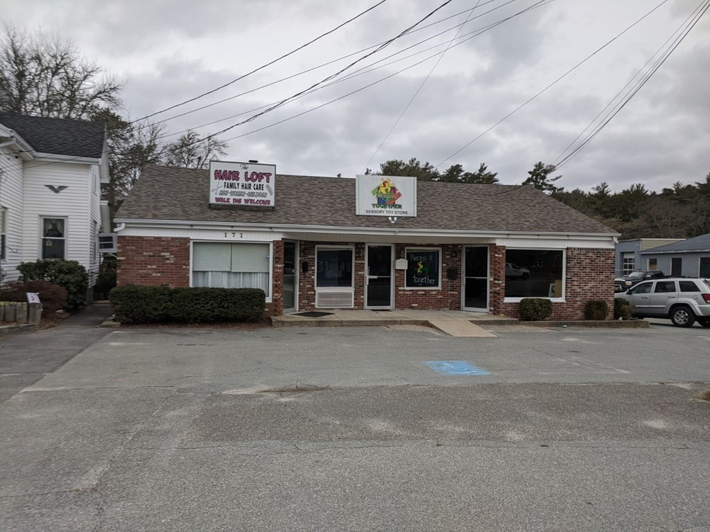 Located  on Rt 6 in Wareham, high traffic count ( 12,000 cars daily) . Building is one lot from Shaws Plaza. Perfect location to attract potential clients for a retail operation. The building is comprised of 3 units appromimately 700 square feet per unit.  One unit is presently set up as a Hair Salon.