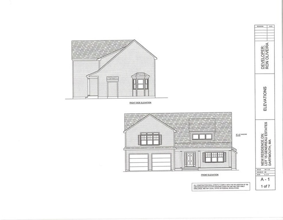 Here is your chance to live in Gendreau Estates in Dartmouth Ma.,Beautiful home to be built. This house will have a total of 4 bedroom, 2 of which are master bedrooms, and baths. This home has a total of 3.5 bathrooms. If you like to entertain you will enjoy the living room with cathedral ceiling that flows nicely to the kitchen and dining room with sliders leading to the deck.