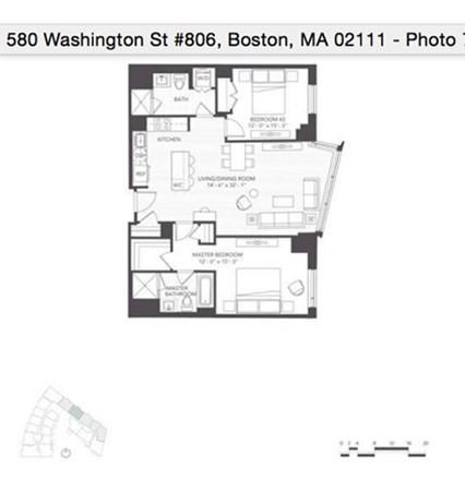 580 Washington St (FURNISHED) Boston MA 02111