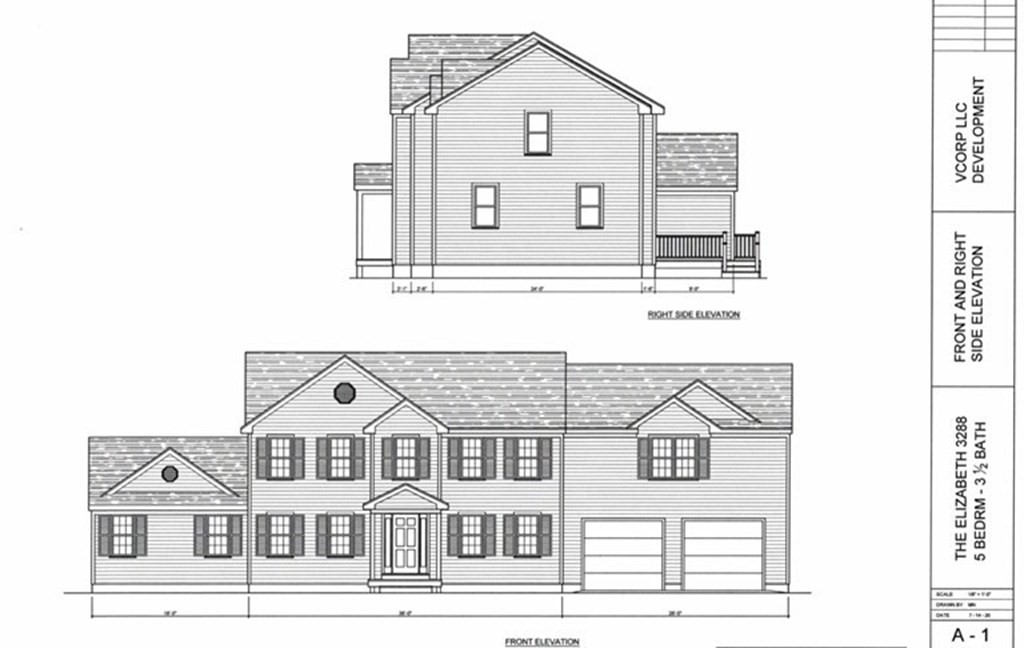 """TO BE BUILT, the """"Elizabeth"""", a 3480 sq ft colonial with a grand open floor plan offering 2 master suites with en suites, one on 1st floor and one on 2nd floor, consisting of true first floor living with optional flex plan, perfect for in-law setup; oversized bedrooms, closets and baths; grand gourmet white kitchen cabinets, with stainless steel appliances, perfect for entertaining! 1st floor mudroom or option for laundry, 3.25 hardwood floors throughout 1st floor of house including 1st floor master bedroom (6 color choices to select from). Rubberized foundation membrane w/10 year warranty not to leak. All this and more tucked away on a beautiful 3.6 acre lot that sits 400 feet off of Rockland St for ultimate privacy and yet just a short walk to Padanaram Village where you'll find shops, dining, and gorgeous sunsets on the harbor. Generous builder allowances. Vermettte Development / VCORP / Better Built LLC - Better Built, Timely Built, Built to Please! Do not walk property w/o agent."""