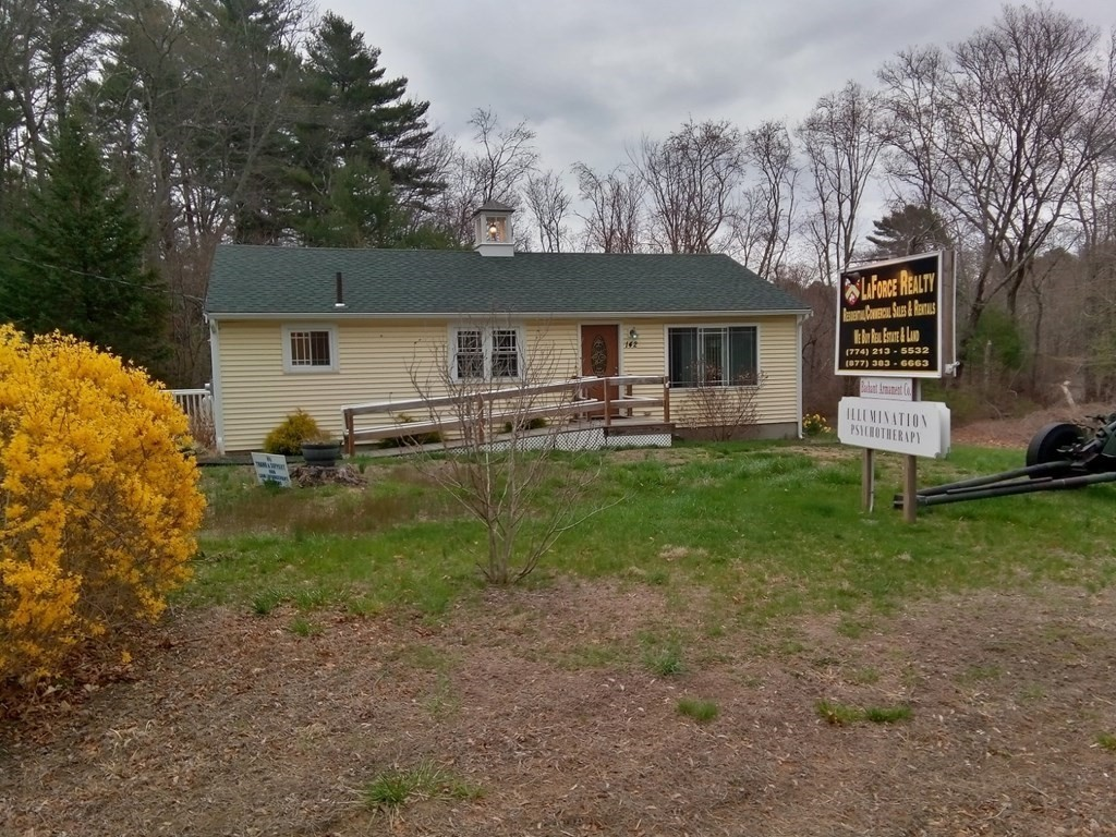 RUNNING YOUR BUSINESS OUT OF YOUR HOME CAN BE STRESSFUL AND UNPRODUCTIVE! Class A office space available on BUSY AND VISIBLE Route 18, near intersection of Route 79, with OCEAN SPRAY WORLD HEADQUARTERS right up the street.  Thousands of impressions a day to display your business.  Great highway access.  Fully renovated, handicapped accessible with shared conference room and full kitchen.  1 office available.  Approximately 9 x 12.  Hardwood flooring, freshly painted, own closet/storage.  Plenty of parking.  Rent includes utilities, internet, and  snow removal.   Common space shared with real estate company..  Perfect professional space for Attorney, CPA, bookkeeper,  appraiser, home inspector, lender, massage therapist or other wellness professional.  Stop working from your dining room table and get a great office at an unbeatable price!