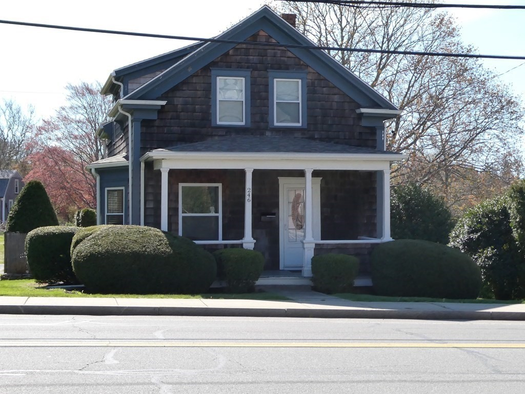 Opportunity for your business, zoned Neighborhood Business,  located in South Dartmouth. Ideal for professional offices, beauty salon, duplex is allowed.  A residential home is the current use, and could be added on to expand. The Sellers do intend on placing restrictive covenants on types of businesses allowed. Ideal for a professional office, self-employed business and live on the premises. Good visibility, good traffic counts.  A business apartment is allowed. What a great opportunity to expand a home business, or start a business/