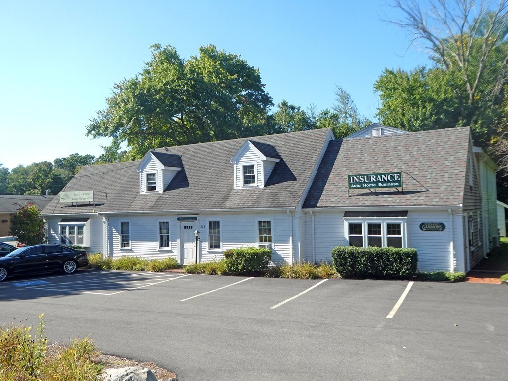 """LAKEVILLE/Second Floor OFFICE Rental Space on BUSY Route 18(Bedford Street)Two Rooms(19'6""""x16'8"""" PLUS 21'6""""x 19'4"""")Front Entrance & Back Door Entrance($775.00/Month/GREAT Off Street Parking & Highway Visibility/Superb Central Lakeville Location-BUSY Route 18 Location-Near Dunkin Donuts, Lakeville Post Office & Strip Mall-Convenient to 105, 44, 495, 24 & Lakeville-Middleborough Commuter Rail/Recently Replaced Carpet in Center Room/Freshly Painted/Separate Front Entrance/Roof AND Over Door Business Display Available NOW!-Empty & Ready For Immediate Occupancy."""