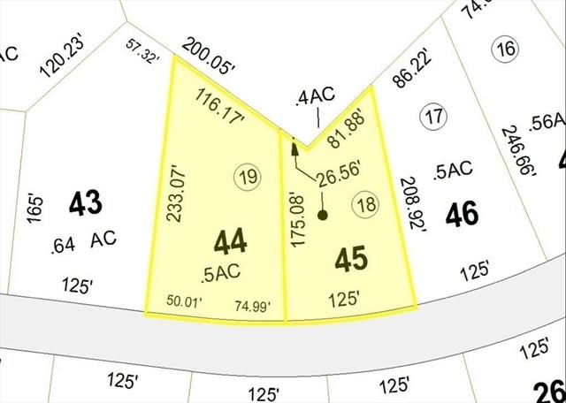 Lot 44-45 Secret Lake Road Phillipston MA 00000