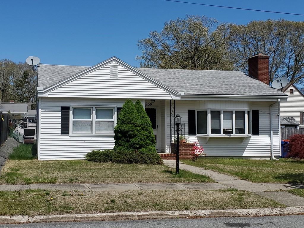 New Bedford North: Two bedroom Ranch with vinyl siding featuring fireplace living room, large eat-in kitchen, enclosed framed porch, patio, off street parking and fenced-in yard. Convenient located close to shopping centers, highway, park and all other amenities.