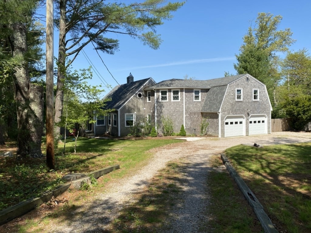 GORGEOUS 4 BR, 2.5 BA Colonial on 1.39 acres in desirable country setting! Graced by tall pines/stone walls, this nearly 3,000 sf abode boasts recent, significant renovations including NEW sophisticated, state-of-the art Kitchen of Schuler cabinetry/quartz counters/ample island/subway tile/5-burner stove/farmer's sink/walk-in pantry! Living Room w/wood burning fireplace of Vermont marble, honey pine floor, slider to deck. NEW 1st floor Master Bedroom w/walk-in closet; ensuite Bath w/5'x5' shower/soaking tub/marble topped vanity/double sinks. 4th BR currently an office w/shiplap paneling, corrugated steel ceiling & distant river view in winter!  NEW windows & most plumbing; NEW propane heat & Lochinvar boiler/hot water tank, A/C!  NEW Mud/Laundry Room. LL slider to stone patio.   2-car Garage.  Garden the raised beds to your heart's content in peace & tranquility.  Westport beckons with its two tidal rivers, three town beaches, marina, restaurants, numerous walking trails!