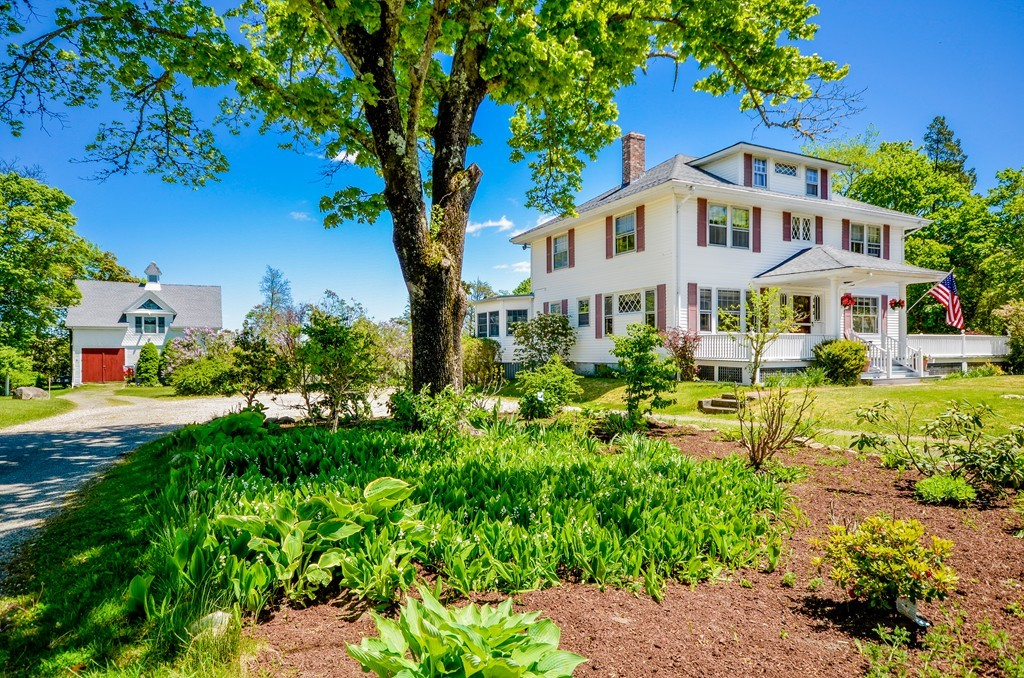Fall in love with this well kept historic home on 1.17 acres of lush lawn and gardens that offers a unique opportunity to live with old world charm. Built by John Crocker Makepeace in 1903, it has 5 bedrooms, 4 baths and 3 fireplaces on desirable High Street, Wareham.The house has been a small B&B for 20 years, offering potential buyers the chance to run their own profitable business if desired, with an established history and clientele. If you prefer to purchase as a single-family home, the back deck, 3 season porch and large yard create the perfect space for family fun and activities. Hardwood floors, a window seat, oversized custom windows, crown moldings and many built-ins make the space warm and welcoming. The home also has a large carriage house on property, which can be a rental or in-law space. A short drive from Cape Cod, Boston and Providence, and close to tennis courts, shopping, schools, marina, walking trails, beaches and commuter rail, this home will capture your heart