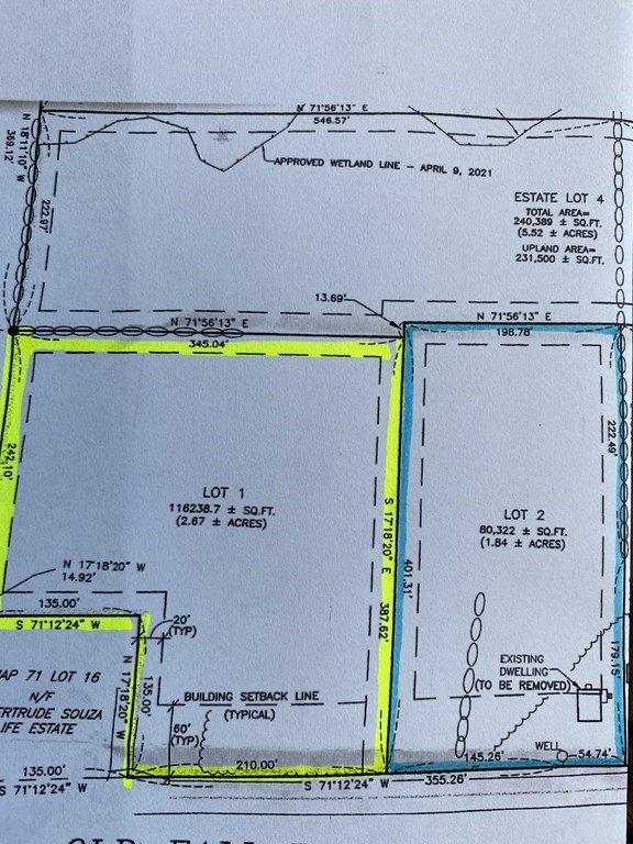 Nice Dartmouth location, recent subdivision of land.  Good size rectangular lot.  Existing house is being torn down.  Land value only.  Perc on file.