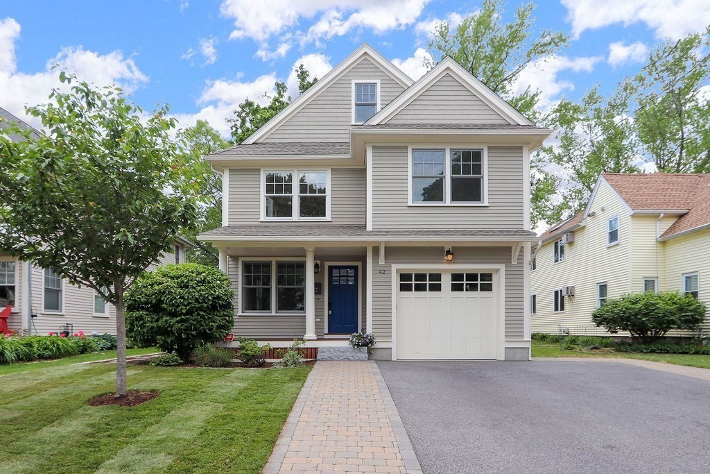 Beautiful, well-sized, 5 bed/3.5 bath single family home built in 2014 on a quiet street in Watertown. The home is a blend of modern conveniences and traditional details. The first floor includes two separate living areas, one of which is open to the kitchen. Plenty of storage, access to the attached garage, and a half bath complete the first level. The second floor has a large master suite, two bedrooms, a full bathroom and a laundry room. Two more bedrooms and another full bath are on the third floor. The finished basement provides a great flex space. Many windows throughout the home allow for lots of natural light and beautiful sunset views from the back windows. The home sits on a well designed, landscaped lot. The fenced in backyard has beautiful hardscaping, including a large patio for entertaining. Located on the Watertown/Belmont border, it is an easy walk to the Waverly commuter rail or a short drive into the city. Many shops, restaurants, parks, trails and more are nearby.