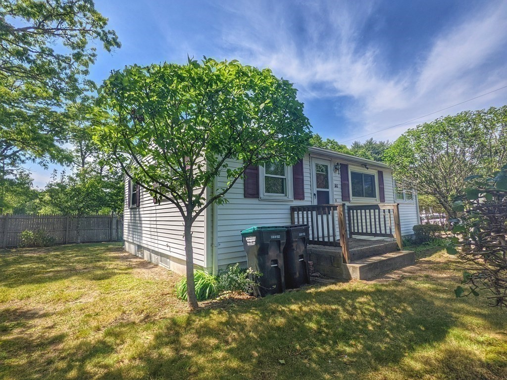 First time buyers, downsizers  & investors, this ones for you! This cozy ranch is located on a corner lot & has 2 bedrooms, full  bath, mud room/office area & a full basement. Fenced yard has a deck, mature fruit trees, garden area shed & plenty of parking. Easy to maintain vinyl siding & roof was replaced in 2018.  Conveniently located near highways/bridges for commuters while being just down the street from several ponds for those of you spending the Summer near home. Bright house with an open floor plan & overhead lighting, Basement has interior access, washer/dryer & is framed for additional rooms. Furnace replaced in 2017. Kitchen & bath were redone approx 2006. Appliances & lawn mower will stay. Some windows have been replaced but most are older. Cosmetic updates like flooring & paint would go a long way. Town water & gas,  private septic, 3 bedroom septic design already passed inspection. This home is easy to show and is sold as is.