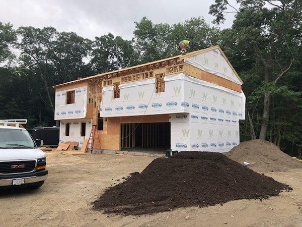 Brand New Construction on Private Roadway in the heart of Acushnet. Foundation is in and building to begin!! Get in NOW! This home is open and spacious with 4 BR/3 Baths/2 Car Garage. Experience your Open floor plan.... with Cathedral Ceilings in the living, dining and kitchen areas overlook conservation land and located on a private road is just what the doctor ordered. Peace and Tranquility at its finest! This small private roadway is designed for 3 single family residential homes. Full finished basement listed as 4th bedroom could easily be a fantastic home office with its own private entrance and full bath. Finished 25 x 25 Garage ample room for 2 vehicles plus storage.  Video Surveillance on site-Please do not walk or enter property without listing Agent. Estimated Completion End of Nov 2021.