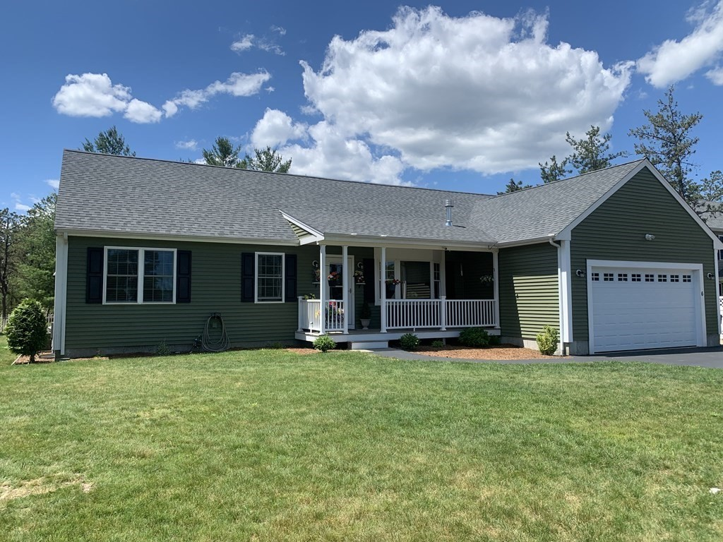 Location, location, location!   3 bedrooms; 2 baths; oversized garage; full, circular, paved driveway.  12' x 12' four season sun room.  Access to beach and pond.  Central vacuum system; patio; 10'  X 12' tool shed with electricity;  snowblower, tractor and all yard tools included.  Fenced yard; front, bay window; 6 zone sprinkler system; gas fireplace.  Interlock Interface Generator.  Utility closet.  HOA Includes use of 83 acre open space, 2 ponds & beaches.  15 min to Cape Cod,