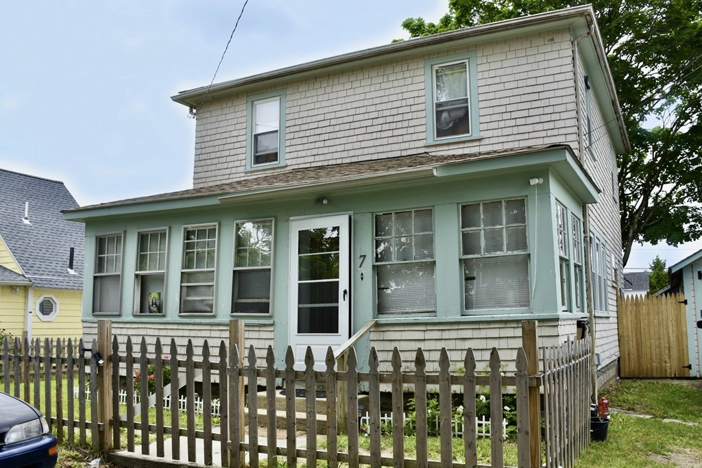 Location, Location, Location! Charming seaside home with fenced in yard and off street parking just a short stroll to Onset Village and Beach! This four bedroom home has hardwood floors, newer windows, and a great open floor plan. Perfect year round, Summer home or Vacation Rental!