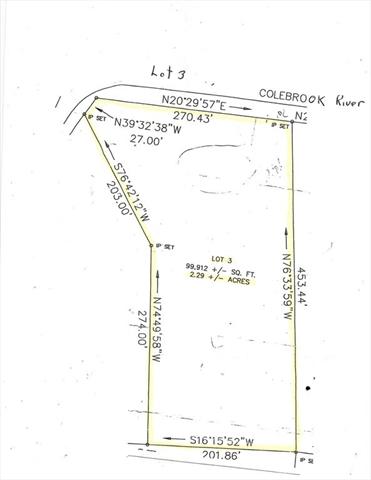Lot 3 Colebrook River Road Tolland MA 01034