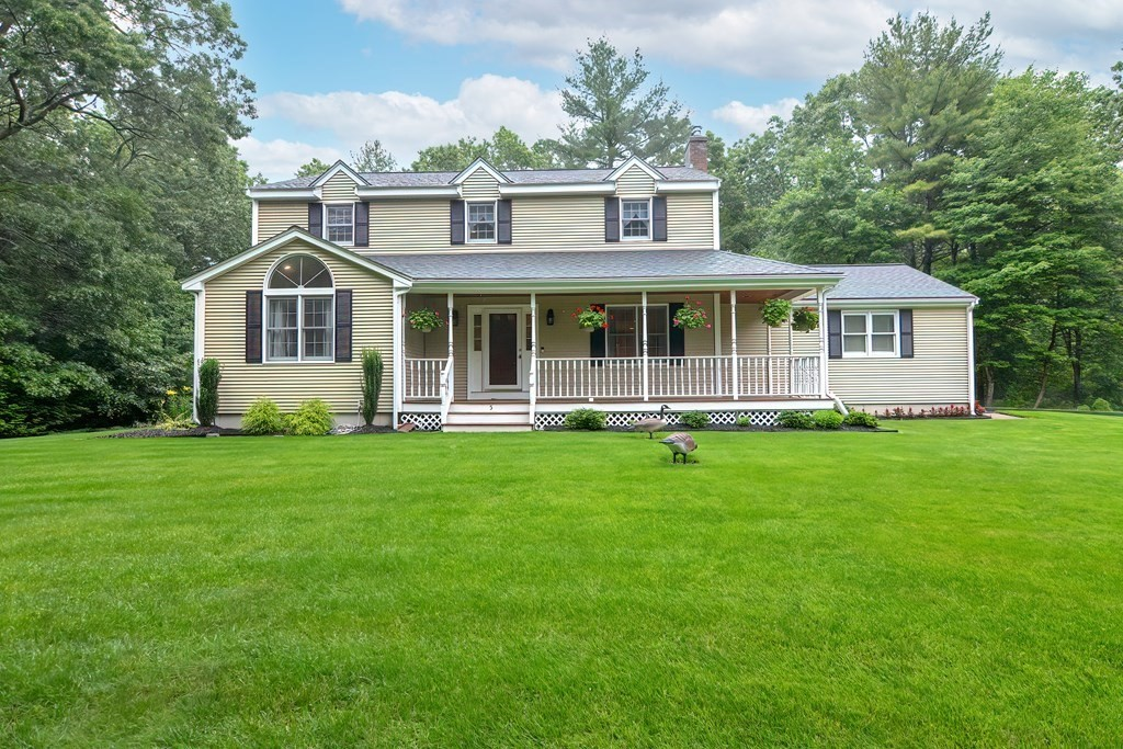 This Meticulously Maintained Custom Built 3 Bed Colonial Sits On 1.4 Acres In A Highly Desirable Neighborhood At The End Of A Quiet Cul De Sac! Almost Every RoomHas Been Updated/Upgraded! The Home Is Surrounded By Beautifully Manicured Lawn & Abuts Conservation! The 1st Floor Features: Hardwoods Throughout The Living Space, Family Room With Fireplace, Well Appointed, Updated Kitchen W/ Upgraded SS Appliances, Quartz Countertops, Stunning Subway Backsplash, Large Dining Room, Oversized Living Room W/ Cathedral Ceiling, And Updated 1/2 Bath. Upstairs Is The Master Ensuite Complete W/ WIC, & Bathroom. There Are 2 Additional Bedrooms, & Updated Full Bath. The Finished Basement Is The Perfect Flex Space/Playroom W/ A Plethora Of Storage & Laundry Area As Well As A Built In Bar! Additional Features Include: 2 Car Garage, Water Filtration System, Irrigation, Invisible Fence, Trek Deck, Wired For A Generator, Superb Location & So Much More!