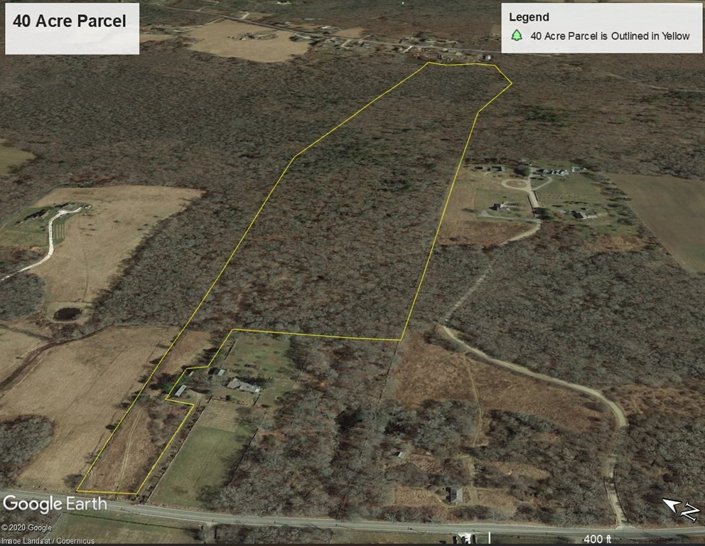 One of the few remaining large buildable parcels of land available a short distance from the ocean.  The parcel offers exclusive privacy for a discriminating buyer.  Would make a wonderful property for horses or nature study.  Much of the property is wooded with abundant deer, and turkey.  The Westport River is visible from the road portion of the property with potential views from the almost 100' elevation above the river.  Two parcels are included in the sale.  There is an existing developed gravel road to the building site approximately 1/4 mile from Horseneck Road.  Some wetlands exist on the property but much of the property is dry and useable.  Be sure to see the drone video.  Owner to do a 1031 exchange and would entertain an exchange for buyer's property.